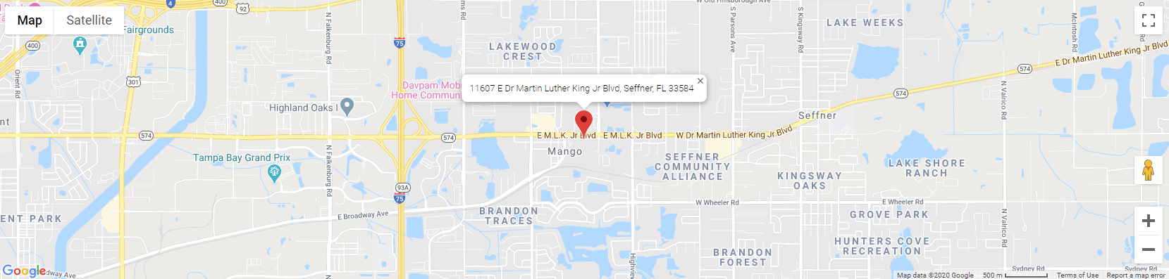 Our Location - 11607 E Dr Martin Luther King Jr Blvd, Seffner, FL 33584