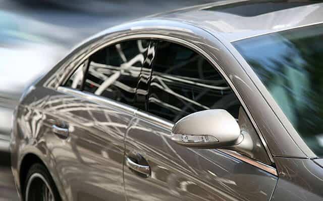 sleek luxury car